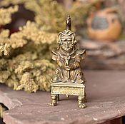 Для дома и интерьера ручной работы. Ярмарка Мастеров - ручная работа Шаман с посохом (король ,king ) Бронзовая скульптура ручной работы. Handmade.