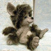 Куклы и игрушки ручной работы. Ярмарка Мастеров - ручная работа Волченок  валяная скульптура. Handmade.