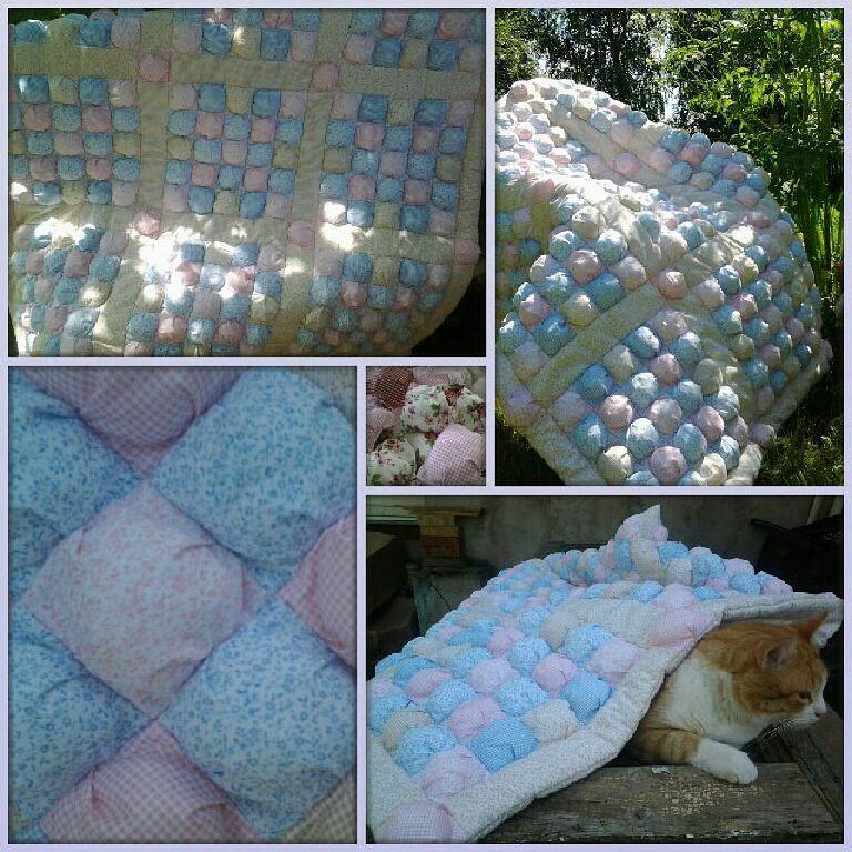 Купить Детское лоскутное одеяло пуфики - плед детский, лоскутное покрывало, пуф, уютный подарок