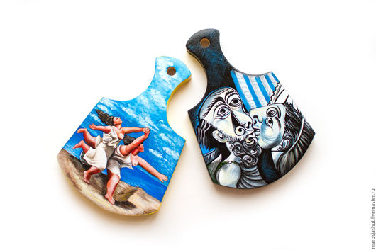 Подарочные наборы ручной работы. Ярмарка Мастеров - ручная работа. Купить Романтический Пикассо. Handmade. Комбинированный, бегущие по пляжу, темпера