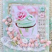 Подарки ручной работы. Ярмарка Мастеров - ручная работа Мятный блокнотик. Handmade.