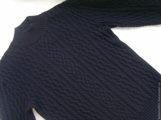 Для мужчин, ручной работы. Ярмарка Мастеров - ручная работа. Купить пуловер мужской из шерсти мериноса 100 %. Handmade.