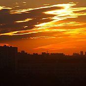 """""""Закат над Москвой - 4"""", авторская фоторабота, 2017 г."""