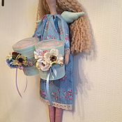 """Куклы и игрушки ручной работы. Ярмарка Мастеров - ручная работа Кукла Тильда """"Хранительница ватных дисков и палочек"""". Handmade."""