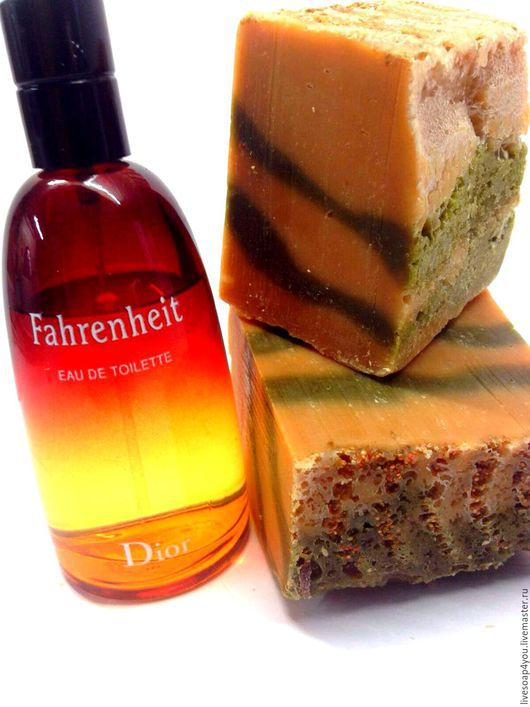 """Мыло ручной работы. Ярмарка Мастеров - ручная работа. Купить """"Fahrenheit """" натуральное мыло ручной работы. Для мужчин.. Handmade."""