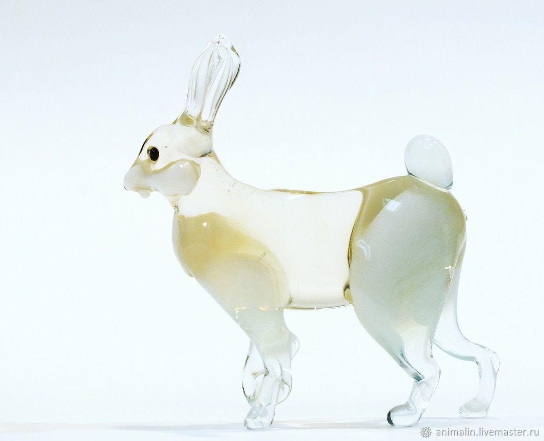 Interior figurine made of colored glass hare hare Orel, Miniature figurines, Moscow,  Фото №1