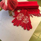 Перчатки ручной работы. Ярмарка Мастеров - ручная работа Берет перчатки шарф. Handmade.