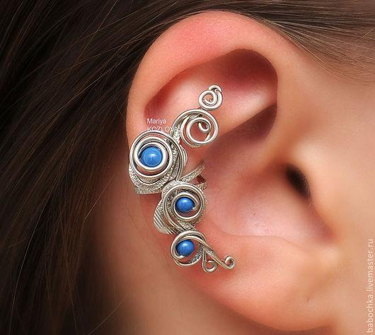 Ear Cuff данной модели можно носить как на правом ушке, так и на левом.