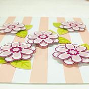 Вырубки для скрапбукинга ручной работы. Ярмарка Мастеров - ручная работа Высечка Цветы из картона трёхслойные, 5 шт в наборе. Handmade.