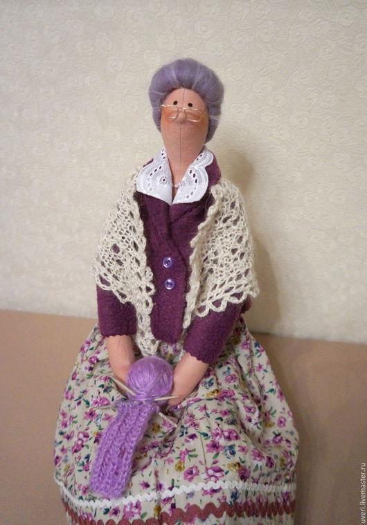 Куклы Тильды ручной работы. Ярмарка Мастеров - ручная работа. Купить Кукла тильда Бабулечка. Handmade. Сиреневый, кукла текстильная