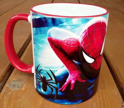 """Кружки и чашки ручной работы. Ярмарка Мастеров - ручная работа. Купить Кружка """"Человек паук"""". Handmade. Кружка, кружка в подарок"""