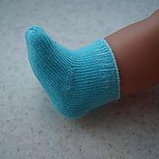 Куклы и игрушки ручной работы. Ярмарка Мастеров - ручная работа Настоящие носочки для куклы беби бон ( baby born ). Handmade.