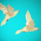 Подарки к праздникам ручной работы. Ярмарка Мастеров - ручная работа Интерьерное стеклянное украшение - птица  Голубь. Handmade.