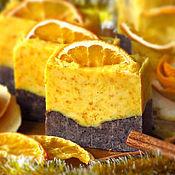 Косметика ручной работы. Ярмарка Мастеров - ручная работа Натуральное мыло Апельсин-корица, мыло скраб, апельсиновое, цитрус. Handmade.