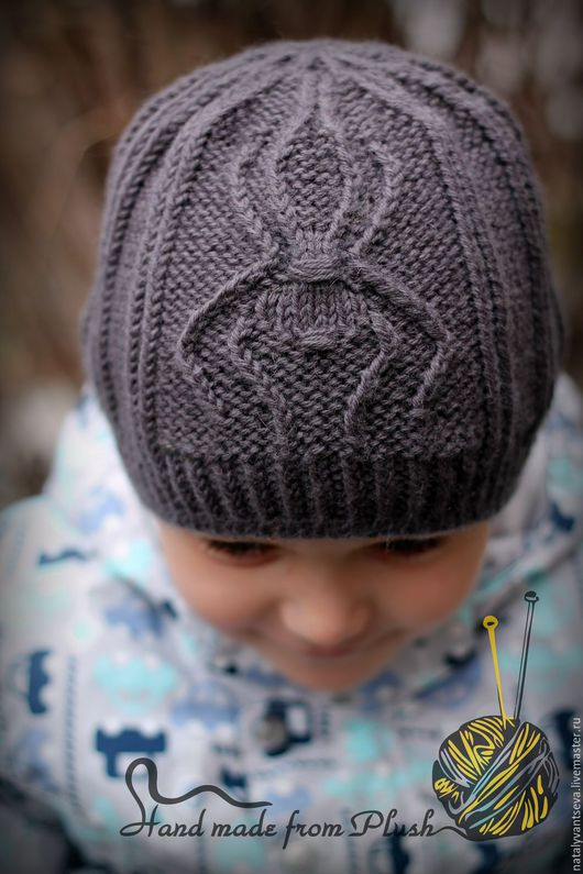 Обучающие материалы ручной работы. Ярмарка Мастеров - ручная работа. Купить МК-описание шапки унисекс Spider (Паук). Handmade.