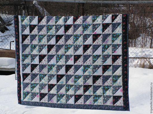 """Текстиль, ковры ручной работы. Ярмарка Мастеров - ручная работа. Купить Лоскутное одеяло """"Деревенское"""". Handmade. Разноцветный, лоскутный плед"""