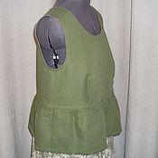 Одежда ручной работы. Ярмарка Мастеров - ручная работа №160.1 Льняная блузка без рукавов. Handmade.