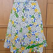 Одежда ручной работы. Ярмарка Мастеров - ручная работа Юбка из льна и хлопка. Handmade.