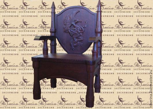 """Мебель ручной работы. Ярмарка Мастеров - ручная работа. Купить Стул """"Замок дракона"""". Handmade. Коричневый, кресло, интерьерный стул"""