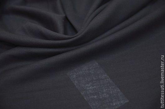 Шитье ручной работы. Ярмарка Мастеров - ручная работа. Купить Блузочная ткань 12-003-2140. Handmade. Тёмно-синий