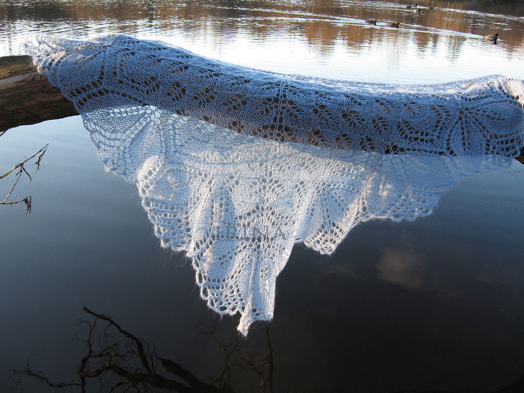 The blue shawl of Haruni, Shawls, Lomonosov,  Фото №1