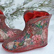 """Обувь ручной работы. Ярмарка Мастеров - ручная работа Чуни """"Именинница"""". Handmade."""