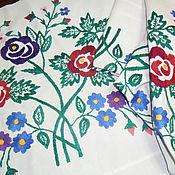 Материалы для творчества handmade. Livemaster - original item Lot of 4 pieces embroidered for creativity Vintage embroidery. Handmade.