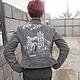 """Верхняя одежда ручной работы. Ярмарка Мастеров - ручная работа. Купить Куртка замшевая с рисунком """"Тауэрский мост"""". Handmade. Серый"""