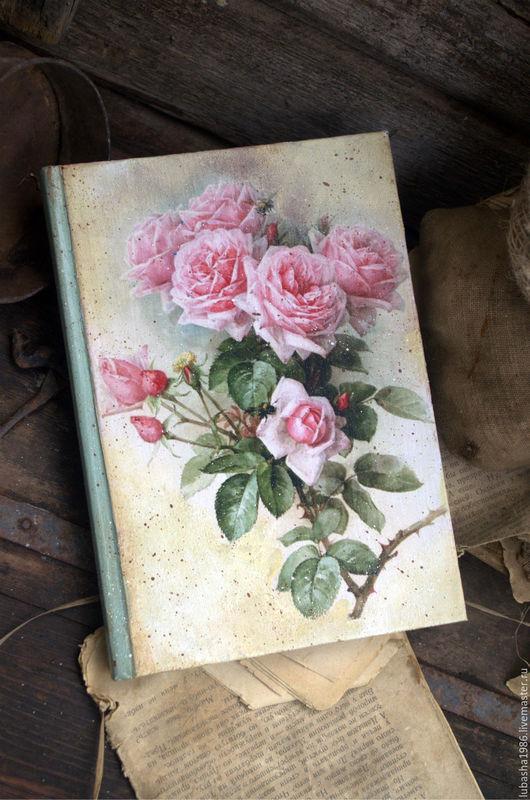 """Блокноты ручной работы. Ярмарка Мастеров - ручная работа. Купить Блокнот для записей """" Любимые розы"""" в стиле Винтаж. Handmade."""