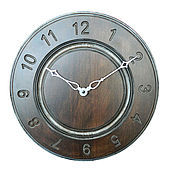 Watch handmade. Livemaster - original item A wall clock. Beech. Old silver. Time.. Handmade.
