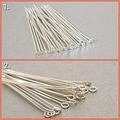 Материалы для творчества handmade. Livemaster - original item Pins with hat color silver set 100 PCs 120 RUB (05). Handmade.