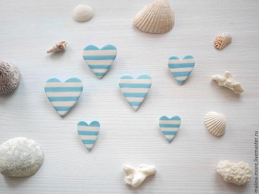 """Броши ручной работы. Ярмарка Мастеров - ручная работа. Купить Брошь сердце """"Морское"""" голубое. Handmade. Голубой, сердце, украшения"""