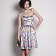 Платья ручной работы. Ярмарка Мастеров - ручная работа. Купить Летнее корсажное платье. Handmade. Разноцветный, тренд, сарафан