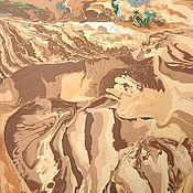 Картины ручной работы. Ярмарка Мастеров - ручная работа Интерьерная картина в раме Пустыня. Handmade.