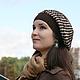 Шапки, шоколад, корица, коричневый, горошек, горох, модные шапки, шапка шарф, шапки вязаные, женские шапки вязаные, шапки молодежные.