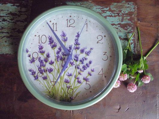 """Часы для дома ручной работы. Ярмарка Мастеров - ручная работа. Купить """"Синяя лаванда N 4"""" Часы настенные. Handmade."""