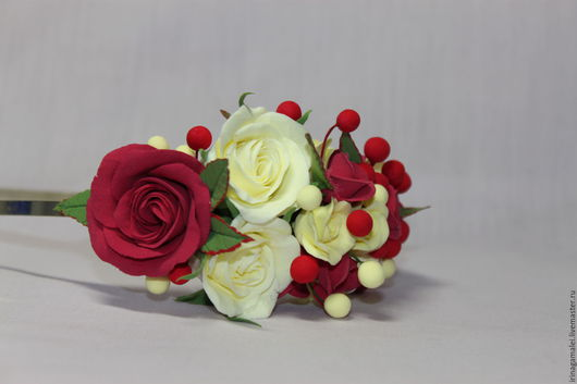 Заколки ручной работы. Ярмарка Мастеров - ручная работа. Купить Ободок из роз. Handmade. Украшения для волос