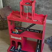 Кукольные домики ручной работы. Ярмарка Мастеров - ручная работа Пожарная часть для мальчишек. Handmade.