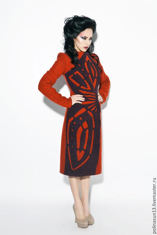 """Верхняя одежда ручной работы. Ярмарка Мастеров - ручная работа. Купить Пальто """"Крыло"""". Handmade. Рыжий, пальто, теплое пальто"""