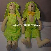 Куклы и игрушки ручной работы. Ярмарка Мастеров - ручная работа Пара заек Тильда. Handmade.