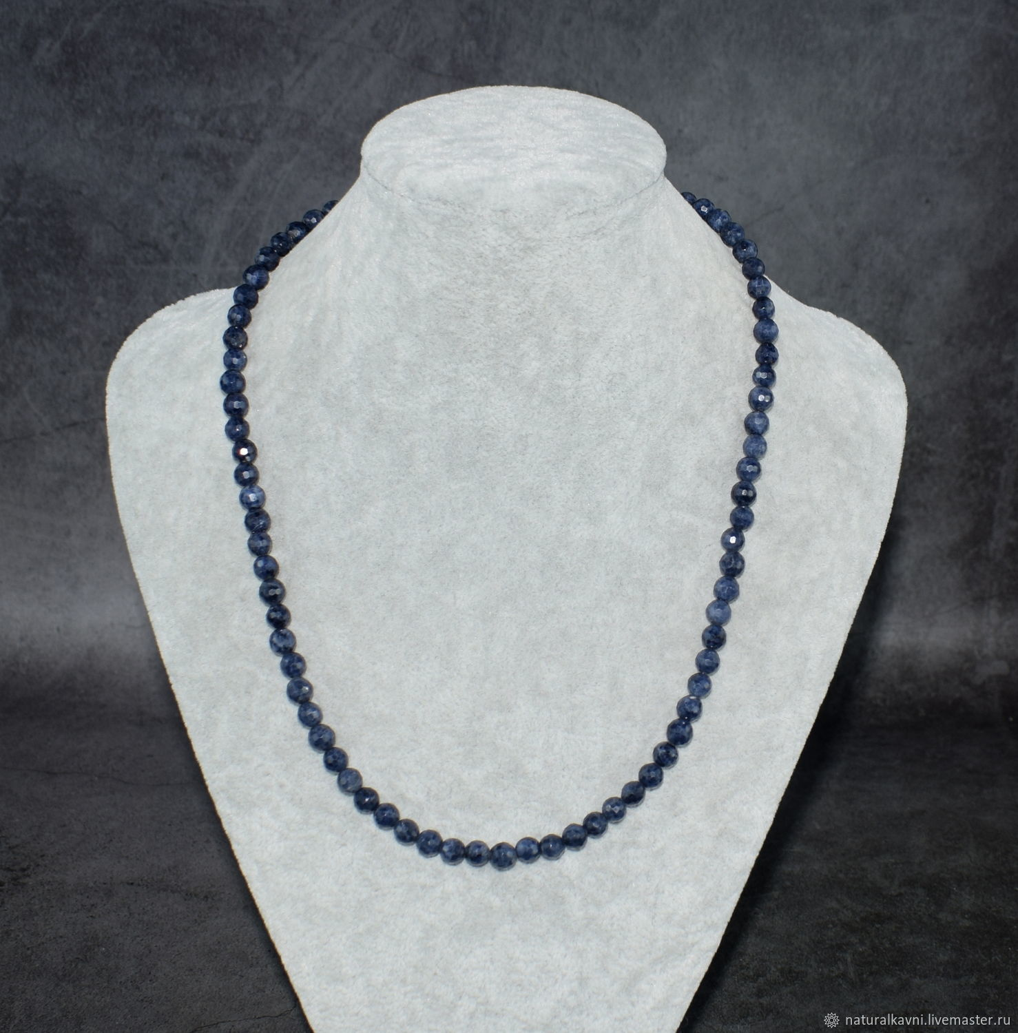 Silver 925pr. Natural SAPPHIRE beads with cut, Beads2, Moscow,  Фото №1