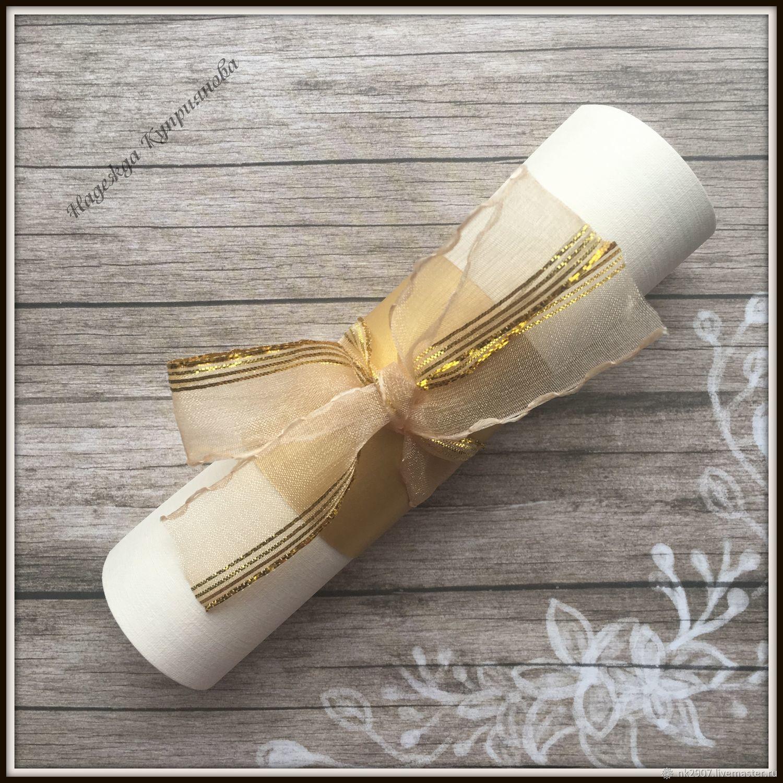 Свадебное приглашение-свиток с манжетой, Приглашения, Санкт-Петербург,  Фото №1