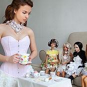 Одежда ручной работы. Ярмарка Мастеров - ручная работа Корсет Зефир с марципанами кружево Solstiss. Handmade.