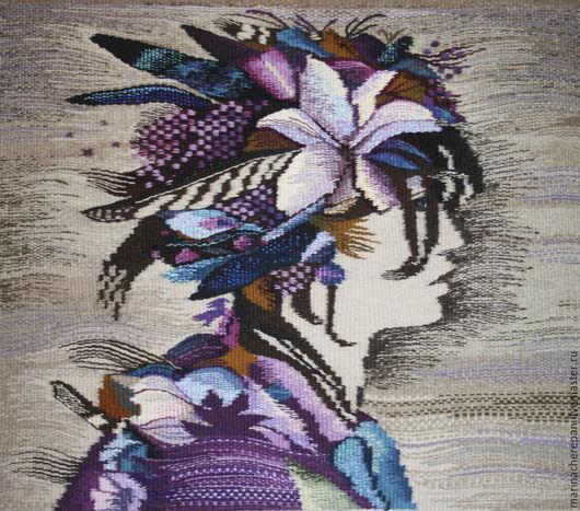 """Люди, ручной работы. Ярмарка Мастеров - ручная работа. Купить Гобелен """"Флора"""". Handmade. Гобелен, ручное ткачество, картина для интерьера"""