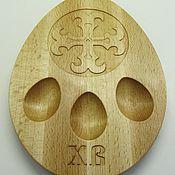 Подносы ручной работы. Ярмарка Мастеров - ручная работа Пасхальная подставка на 3 яйца. Handmade.