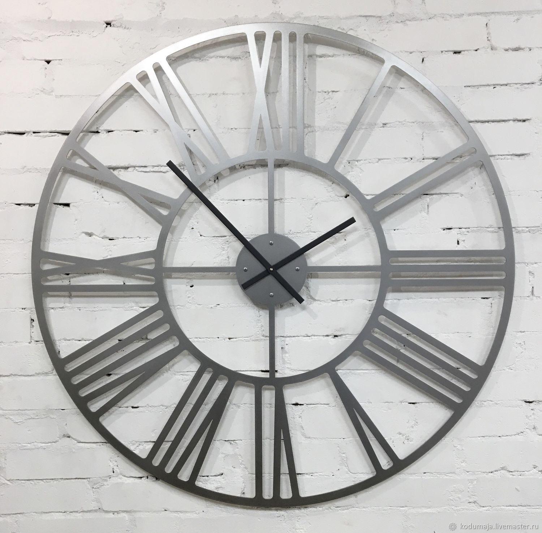 """Большие настенные часы 1 метр из нержавейки """"Rooma-aisi Premium"""", Часы классические, Санкт-Петербург,  Фото №1"""