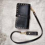 Сумки и аксессуары handmade. Livemaster - original item Clutch trucker leather Road history. Handmade.