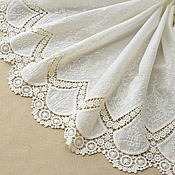 Материалы для творчества handmade. Livemaster - original item Fabric lace embroidery 100% cotton 4. Handmade.