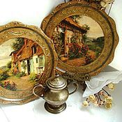 Посуда handmade. Livemaster - original item Decorative wall plate is a dream House. Handmade.