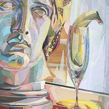Картины и панно ручной работы. Ярмарка Мастеров - ручная работа Натюрморт с издёвкой над головой Аполлона 51х71 см. Handmade.